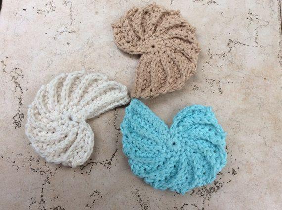 Crochet Pattern Seashell Pdf Seashell Pattern Coaster Seashell