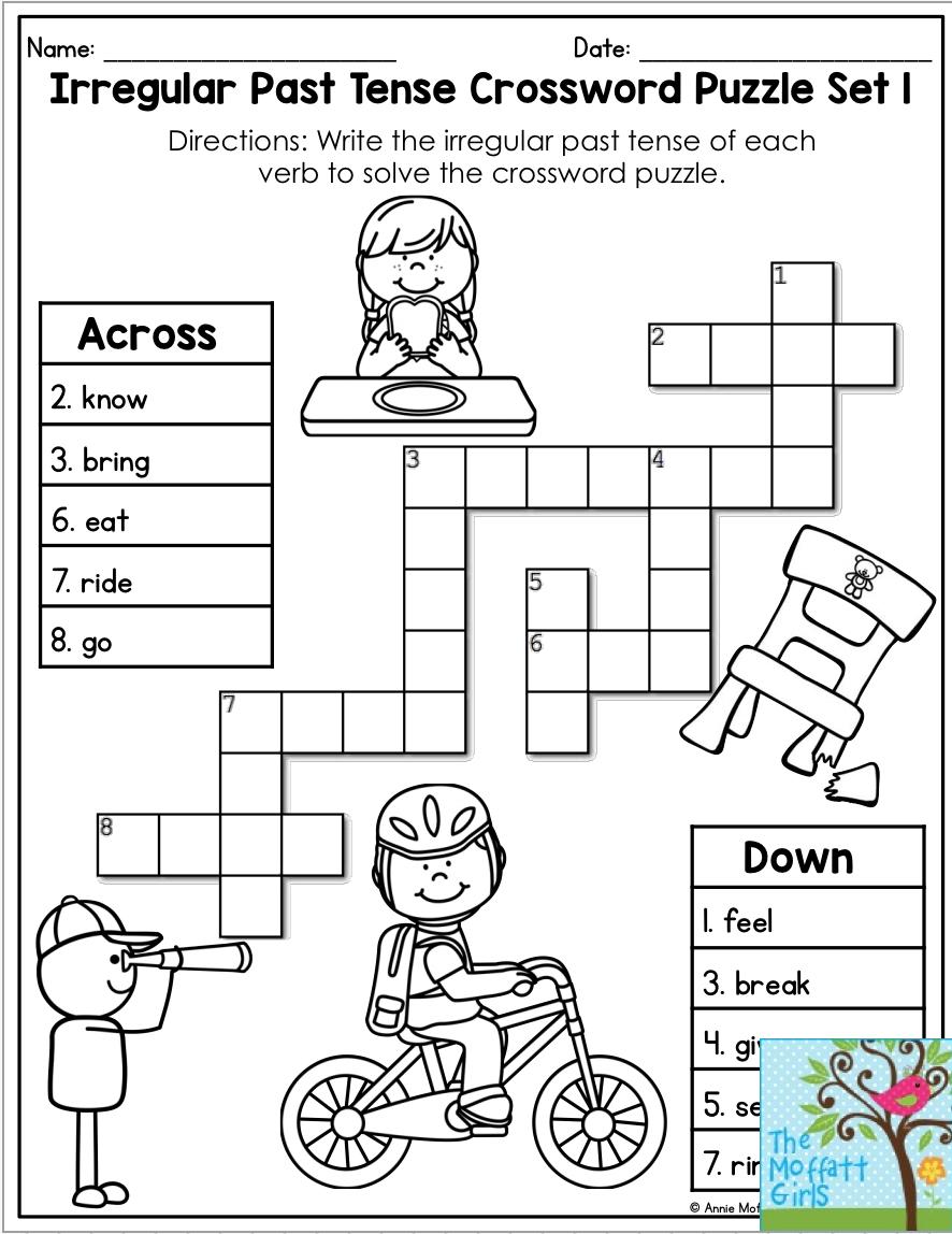 Verb Tenses No Prep Packet Word Puzzles For Kids Verbs Activities Tenses [ 1148 x 886 Pixel ]