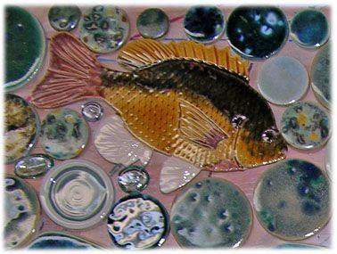 Blue Gill Ceramic Tile Fish