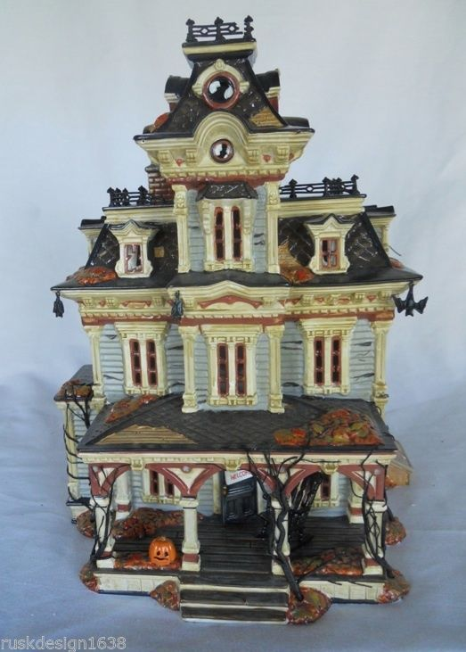 haunted house lighting effects. 56 grimsly manor haunted house box halloween snow village no light sound lighting effects o