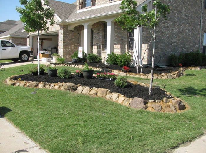 weltner mckinney texas landscaping rock flower beds. Black Bedroom Furniture Sets. Home Design Ideas
