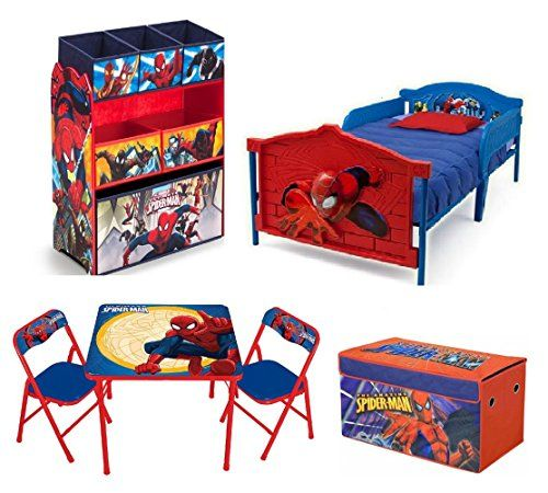 Spiderman Table And Chairs Short Gym Couleur Chair Toy Storage Ideas Marvel Spider Man Toddler Bedroom Bundle Set 3d Bed Bin Organizer Activity Trunk Learn More By Visiting The
