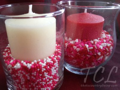 Frugal Candy Candle Holder / Valentineu0027s Centerpiece Ideas