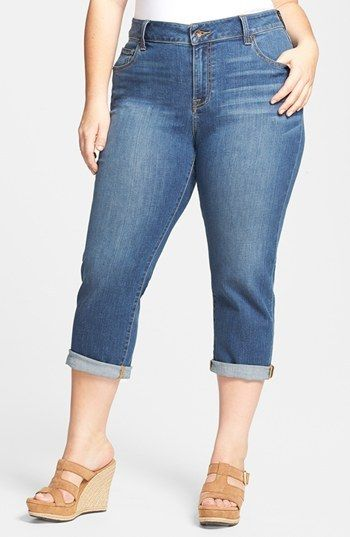 b6136e8d122 Lucky Brand  New Ginger  Crop Jeans (Plus Size) on shopstyle.com ...