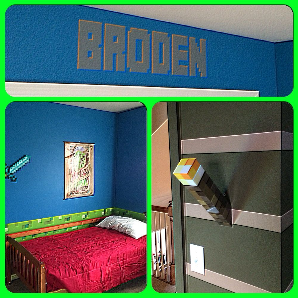 Minecraft Bedroom Decor, Boys Minecraft