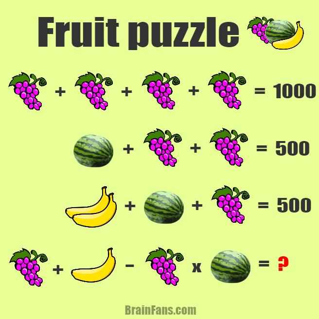 1000 banana puzzle