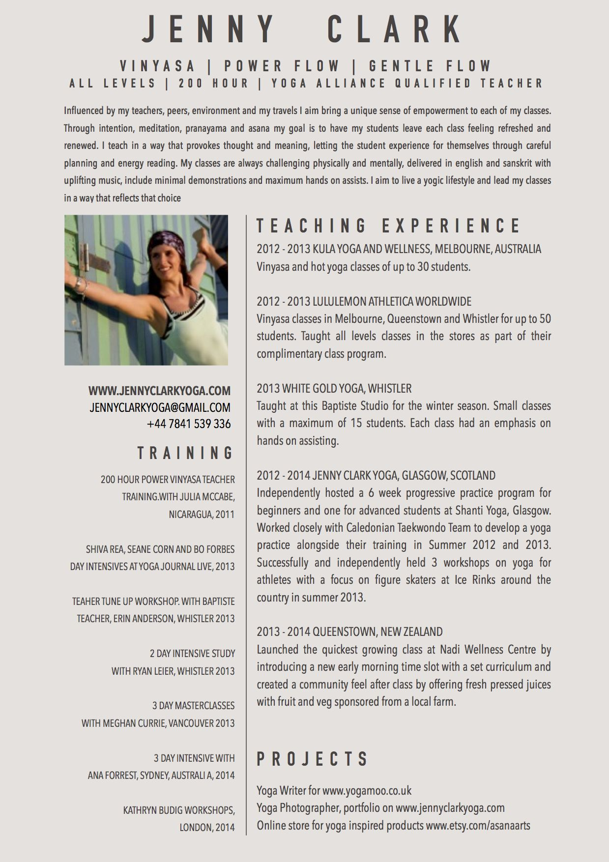 New Yoga Teacher Resume Sample | Yoga | Pinterest | Yoga teacher ...