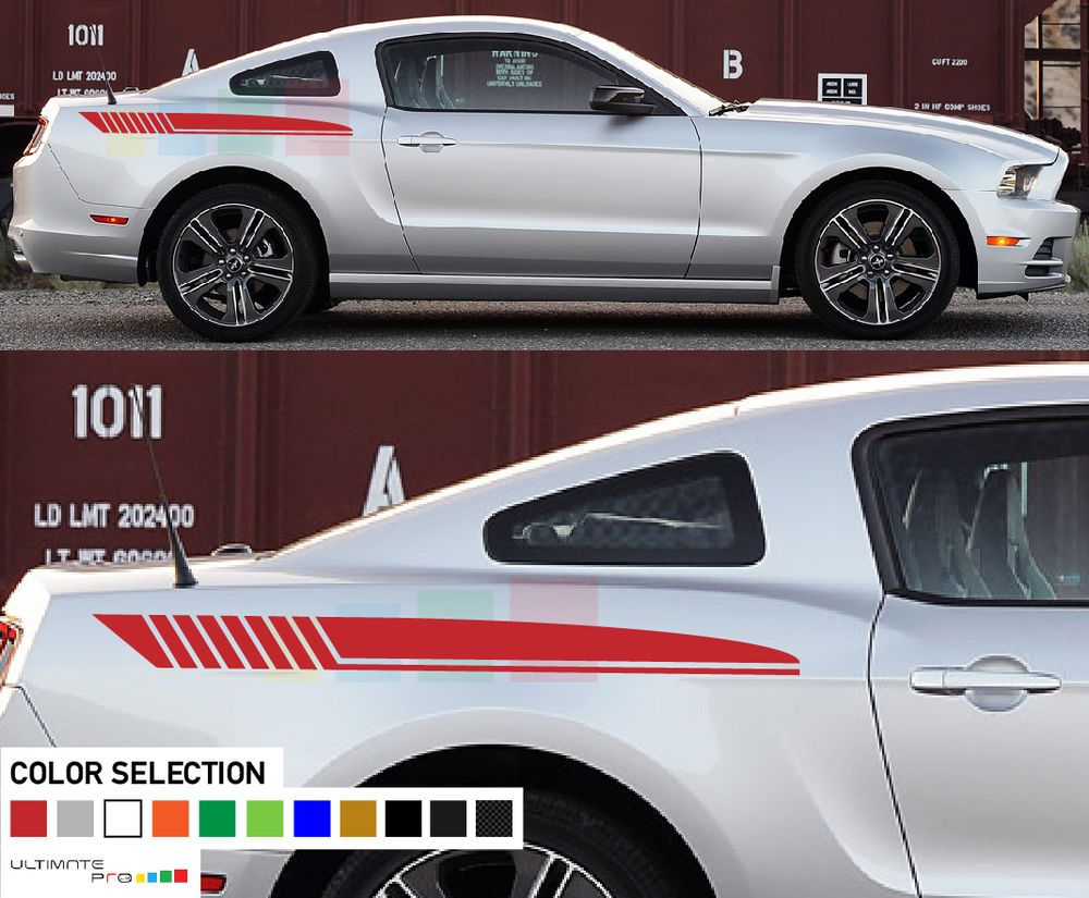 Sticker Decal Stripes For Ford Mustang Upgrade Body Supercharger Lowering V8 V6 Ultimateprocy1 Ford Mustang Mustang Mustang Tuning [ 825 x 1000 Pixel ]