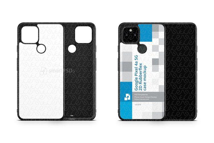 Google Pixel 4a 5G 2020 2d Rubber Flex Case Design Mockup (1327001) | Products | Design Bundles