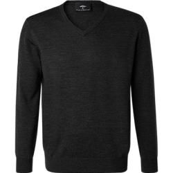 Photo of Fynch-Hatton Pullover Herren, Merinowolle, schwarz Fynch Hatton
