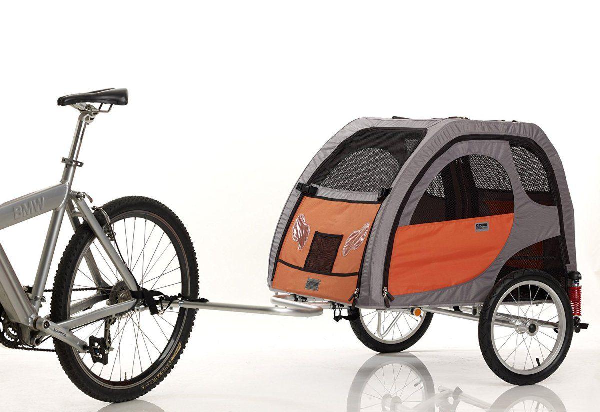 PetEgo Comfort Wagon Dog Bike Trailer Biking with dog