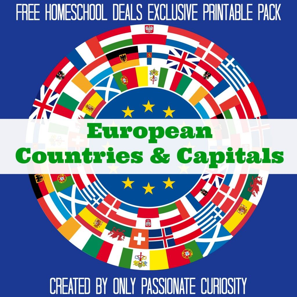 Free European Countries And Capitals Pack Instant