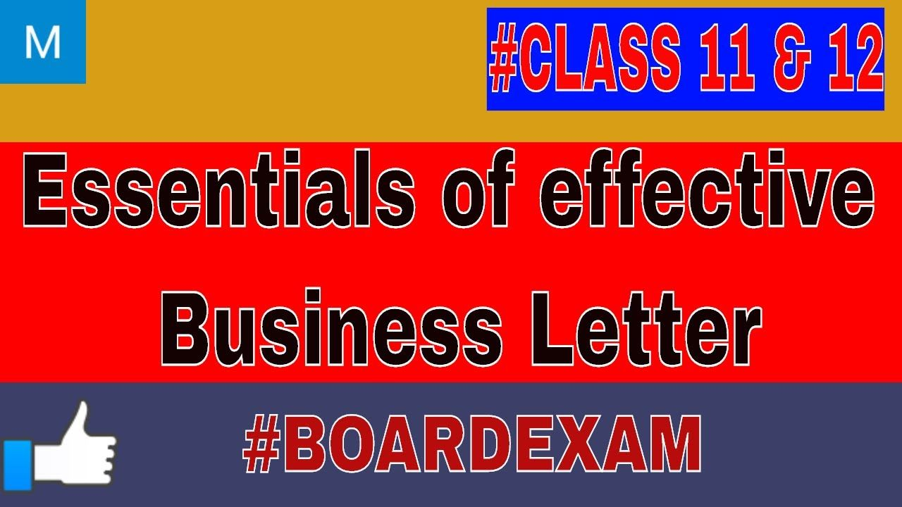 Essentials Of Effective Business Letter Business Letter Lettering Business