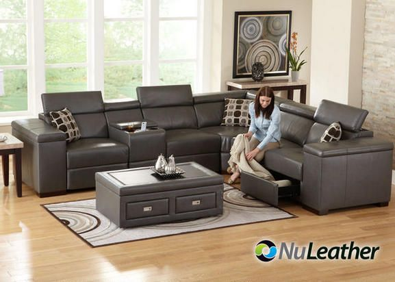 Swell Mason 8 Pc Sectional With Music Console Sofas Living Alphanode Cool Chair Designs And Ideas Alphanodeonline