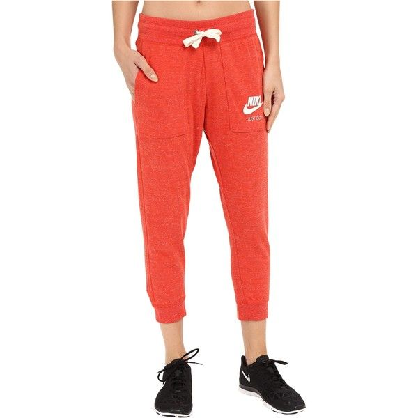 Nike Gym Vintage Capris (Light Crimson/Sail) ($33) ❤ liked on