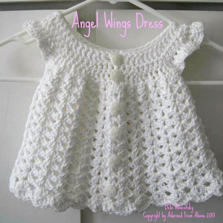 Free Crochet Baby Dress Patterns | crocheted dress newborn 2 skeins white i love this cotton 1 h crochet ... | diyenergy.co