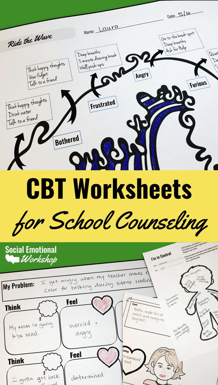 CBT Worksheets: Feelings Thermometers and Thought Maps ...