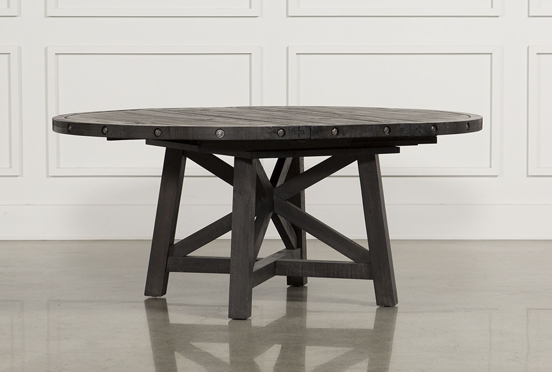 Jaxon Round Extension Dining Table Caf Round Dining Table Living Spaces And Spaces