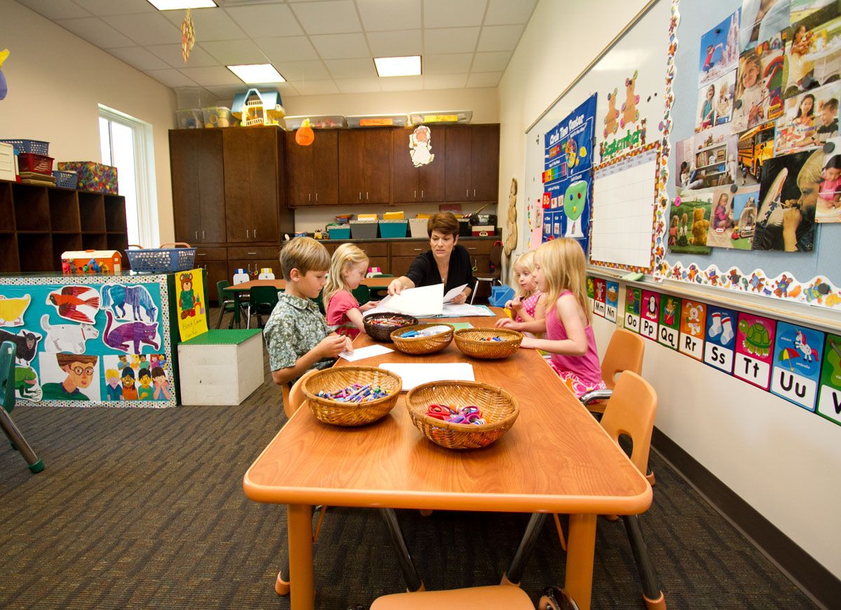 Minimalist Kindergarten Classroom ~ What a great looking sunday school room space for