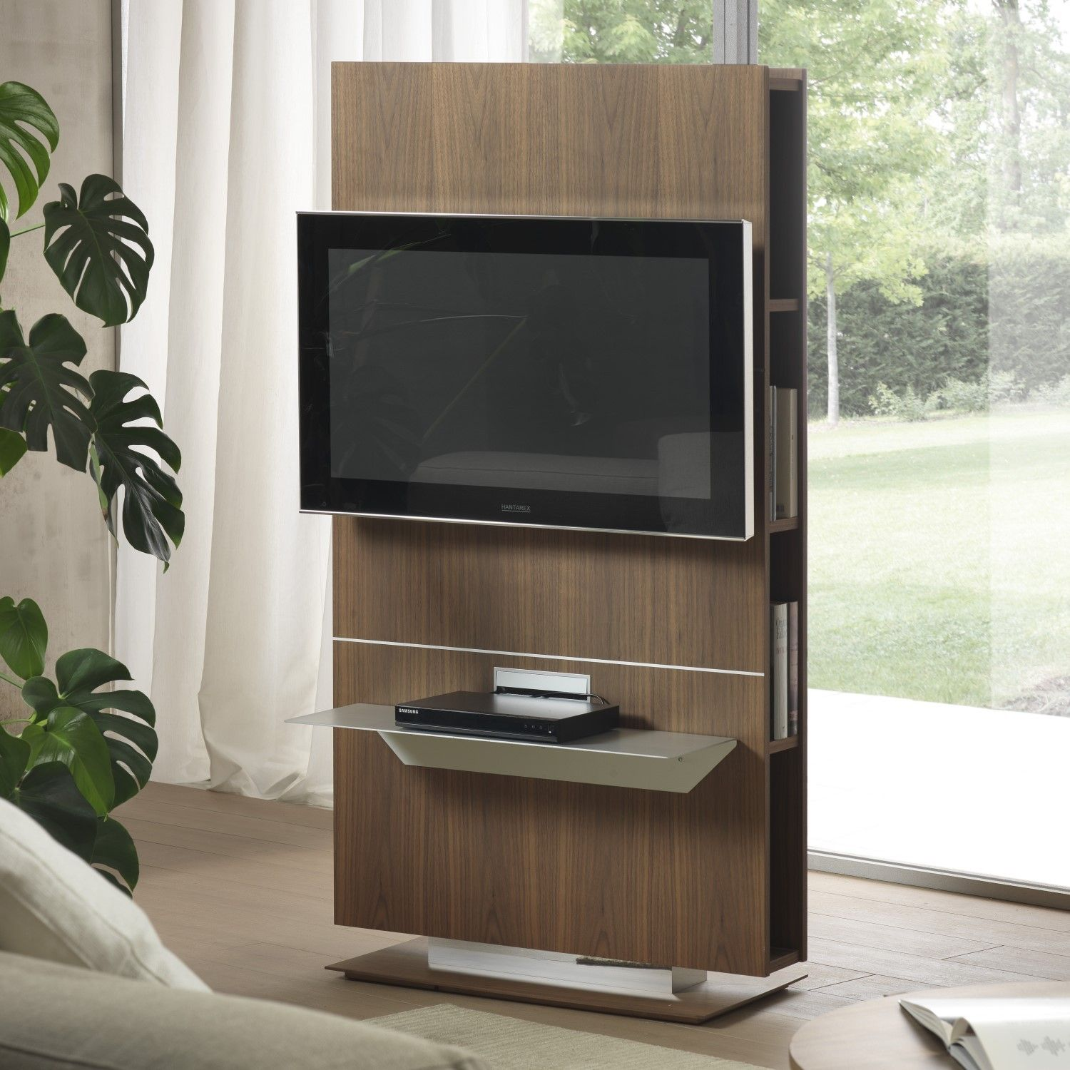 Porta Tv orientabile con libreria Lounge | arredo | Pinterest | TV ...