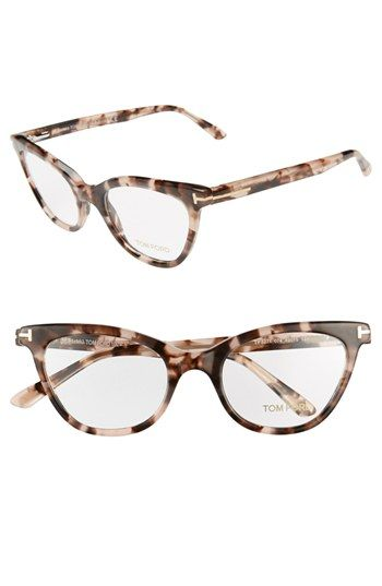 Tom Ford 49mm Cat Eye Optical Glasses Online Only Cat Eye Glasses Frames Fashion Eye Glasses Optical Glasses