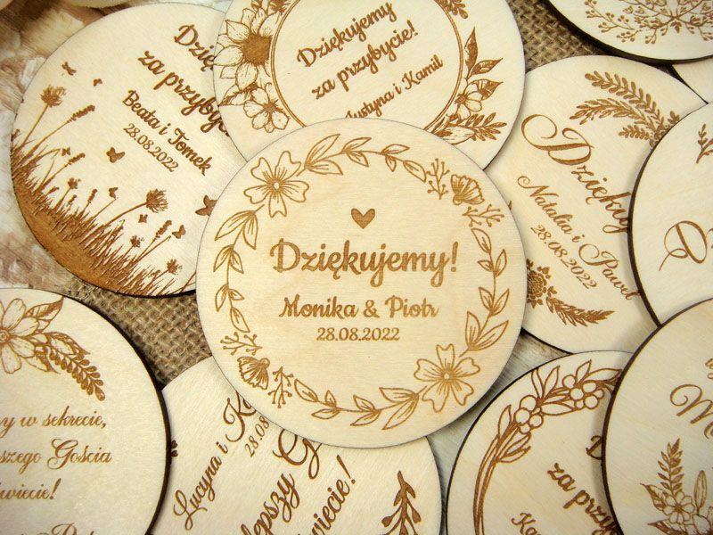 Magnesy Slubne Na Lodowke Pm3 Personalized Items Decorative Plates