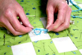 How to Tie a Quilt Tutorial - Quilting Tutorial from ... : how to tie quilt - Adamdwight.com
