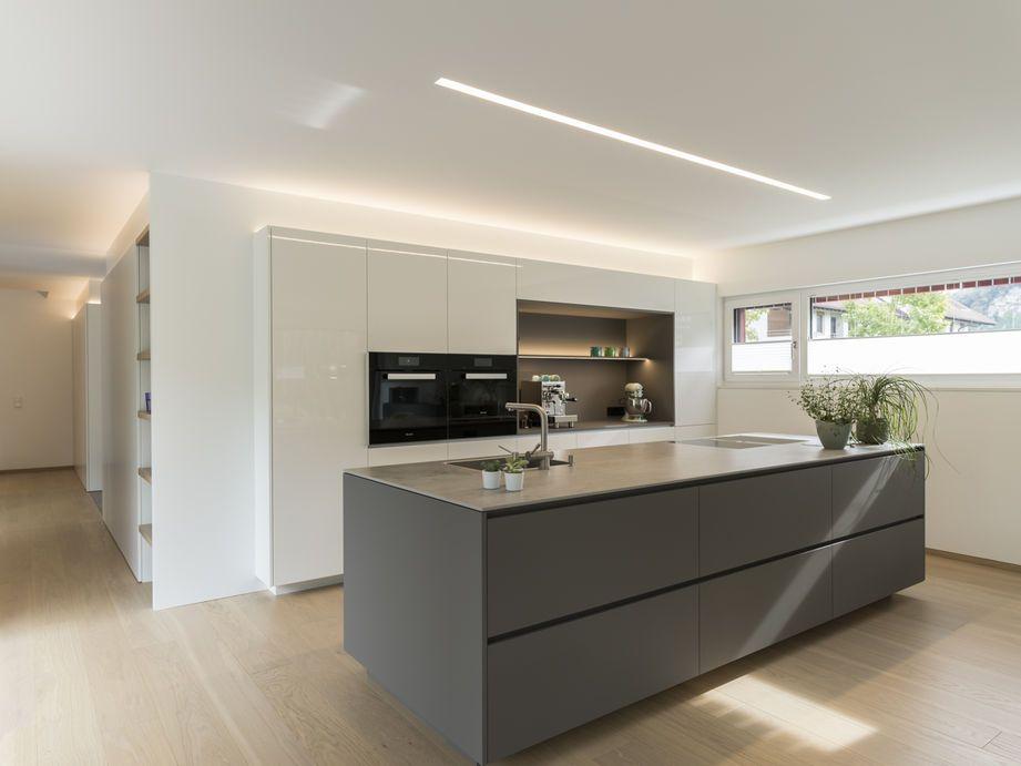 Küche in Hochglanz weiss Küche kitchen Pinterest Kitchens - hochglanz weiss modernen apartment