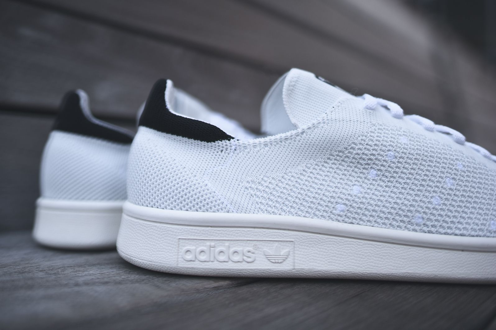 competitive price 3d1ef 375c4 adidas Consortium Primeknit Stan Smith - White   Black   KITH NYC   Kith NYC