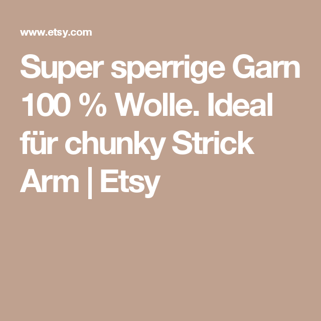 Super sperrige Garn 100 % Wolle. Ideal für chunky Strick Arm | Etsy
