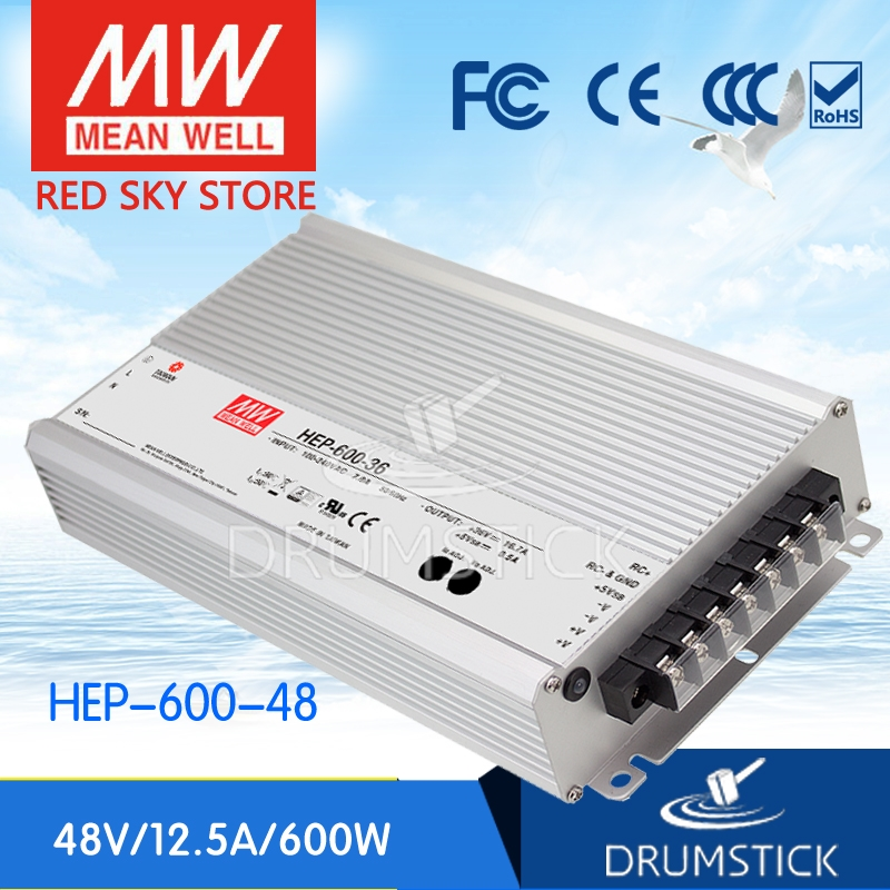 231.26$  Buy now - http://ali4fe.shopchina.info/go.php?t=32773643305 - Genuine MEAN WELL HEP-600-48 48V 12.5A meanwell HEP-600 48V 600W Single Output Switching Power Supply  #magazineonlinewebsite
