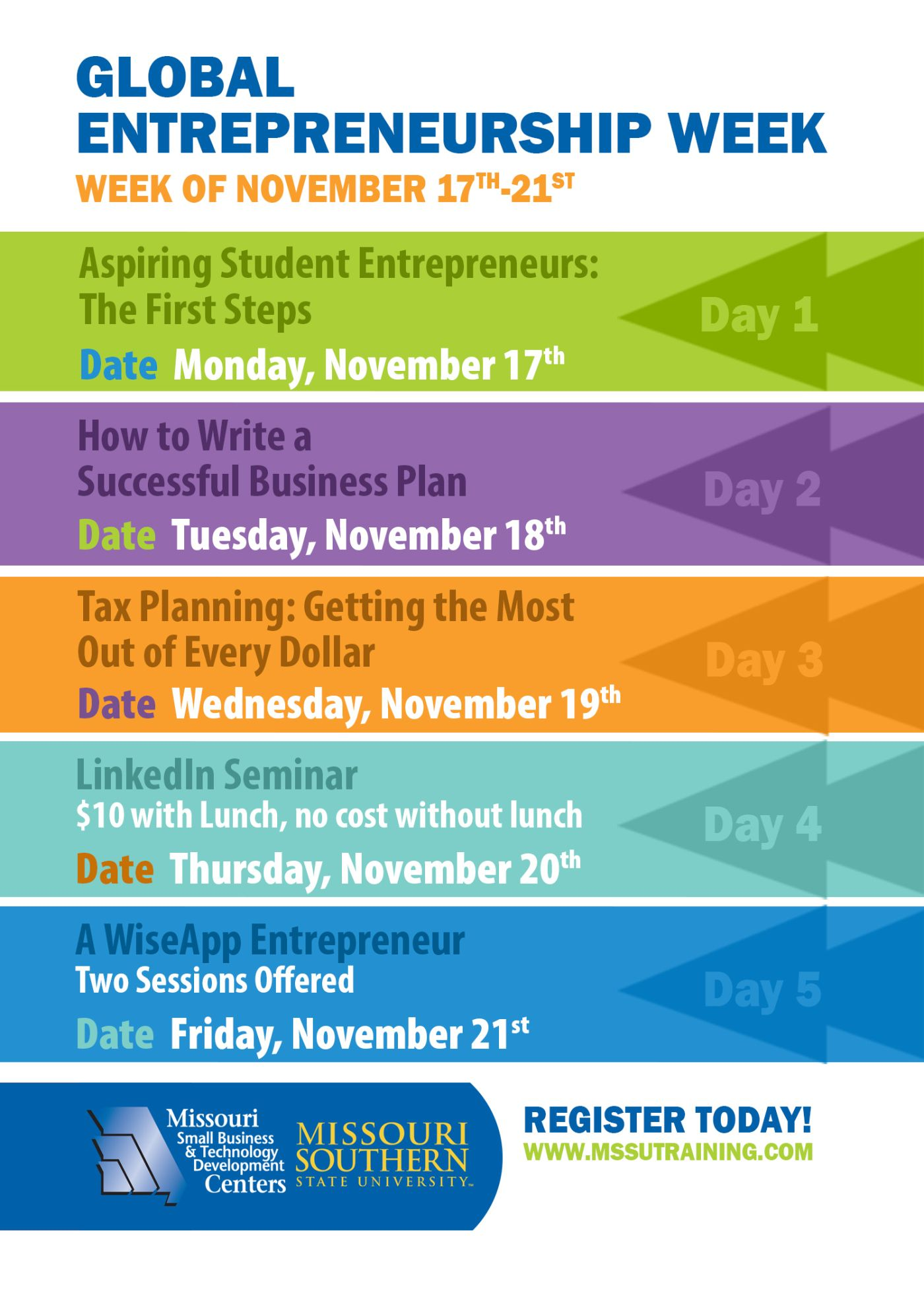 Global Entrepreneurship Week Events Flyer  Google Search  Small