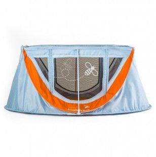 Take A Look At This Dusk Blue Burnt Orange Journeybee Portable Crib By Palab On