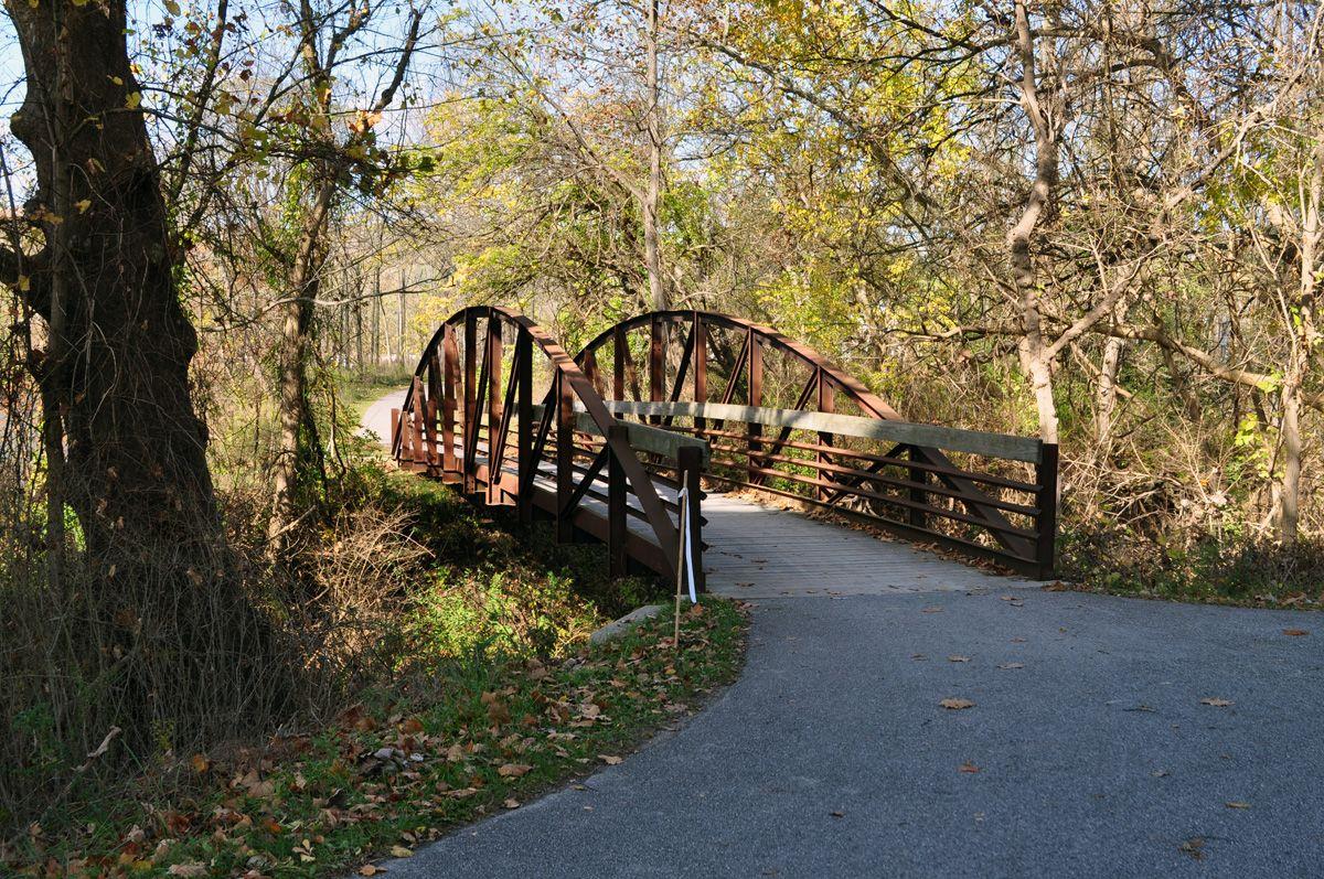The Towpath Trail near Boston Store Garden bridge