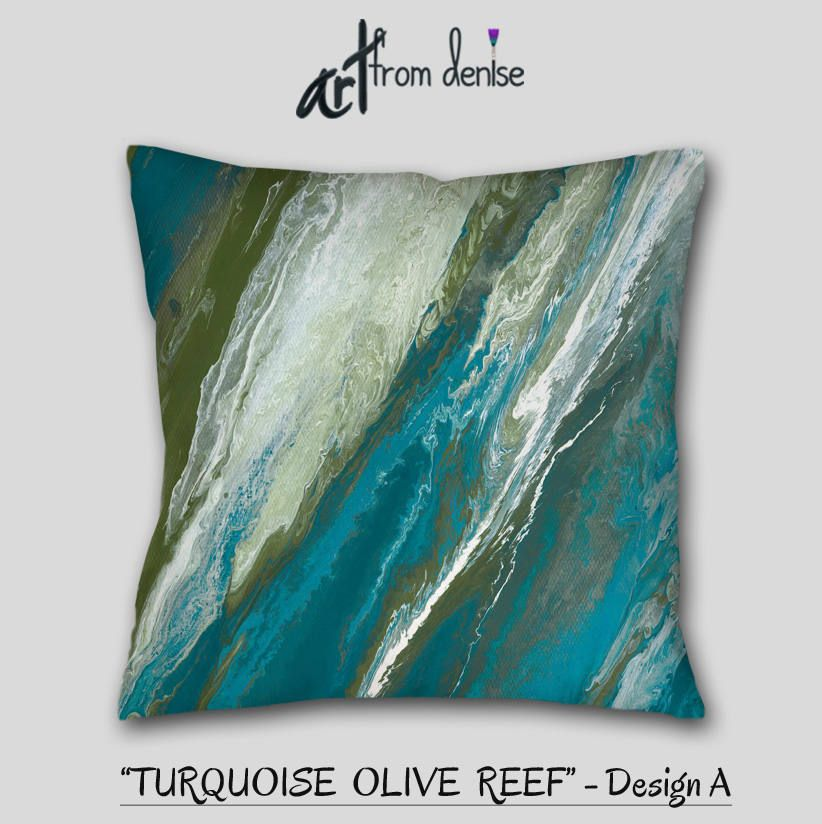 Decorative Throw Pillow For Your Home Or Office Decor Featuring Abstract Artfromdenise Colors Inc Blue Couch Pillows Turquoise Throw Pillows Throw Pillows Bed