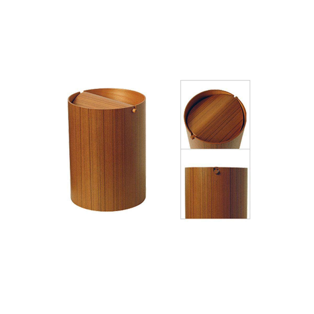 Wooden Wastebasket Garbage Receptacle  Wastebasket With Lid  Mirrored Wastebasket