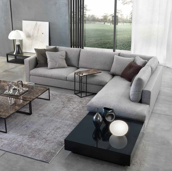 L Shaped Sofa Designs For Living Room In Karachi in 2020 ...