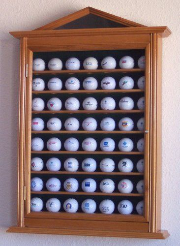 63 Golf Ball Designer Display Case Cabinet Holder Wall Rack Oak By Sfdisplay Save 7 Off 79 95 Our Designer Golf Ball Display Cabinet Is Beautifully Design