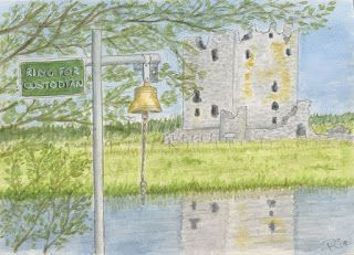 Rie Designed: A Sketch a Day-Day 163-Ruin Threave Castle
