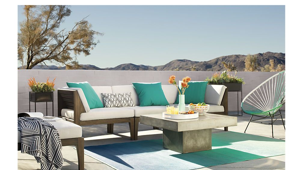 elba sectional Contemporary patio furniture, Modern