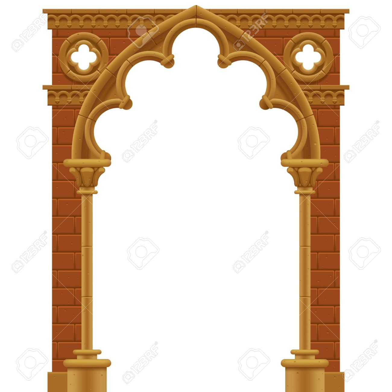 20237517 Rahmen In Form Der Stein Verziert Gotischen Bogen Lizenzfreie Bilder Jpg 1300 1300 Architecture Design Arch Frame