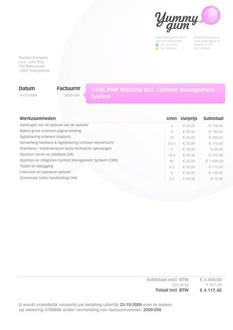 Invoice Like A Pro Design Examples and Best Practices – Graphic Design Invoice Template