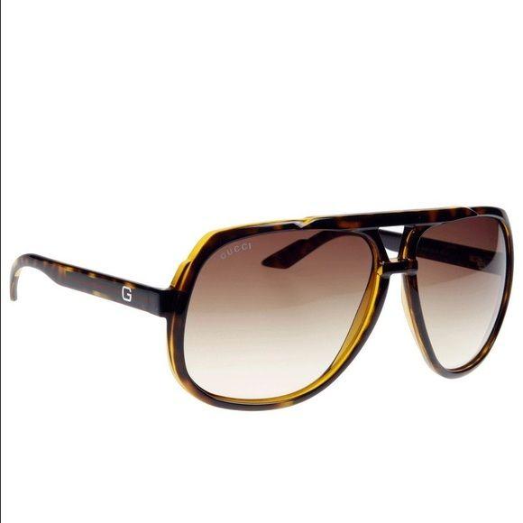 92ccef4f454 Gucci 1622 s sunglasses aviator Authentic Gucci Sunglasses Havana Frame    Pink and Orange Gradient Lenses include a Gucci case.