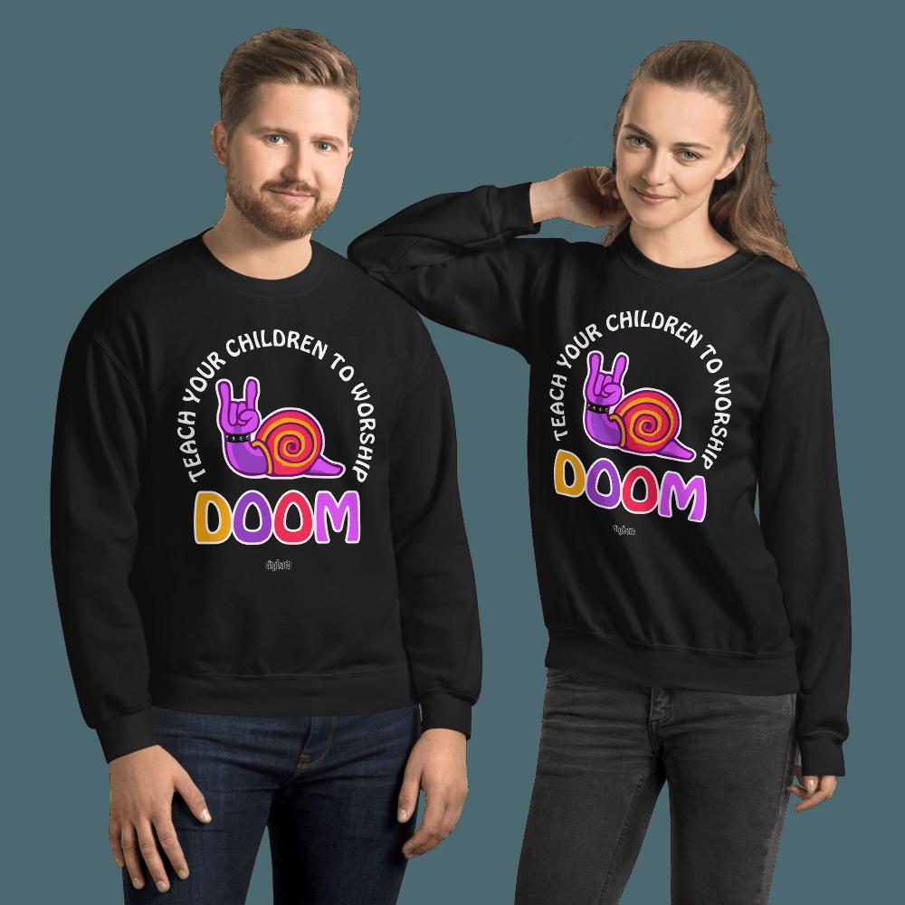 Teach Doom | Unisex Sweatshirt - Black / M