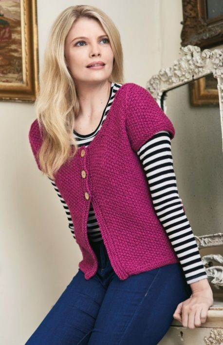 Simple Cardigan Free Knitting Patterns Garments Knit