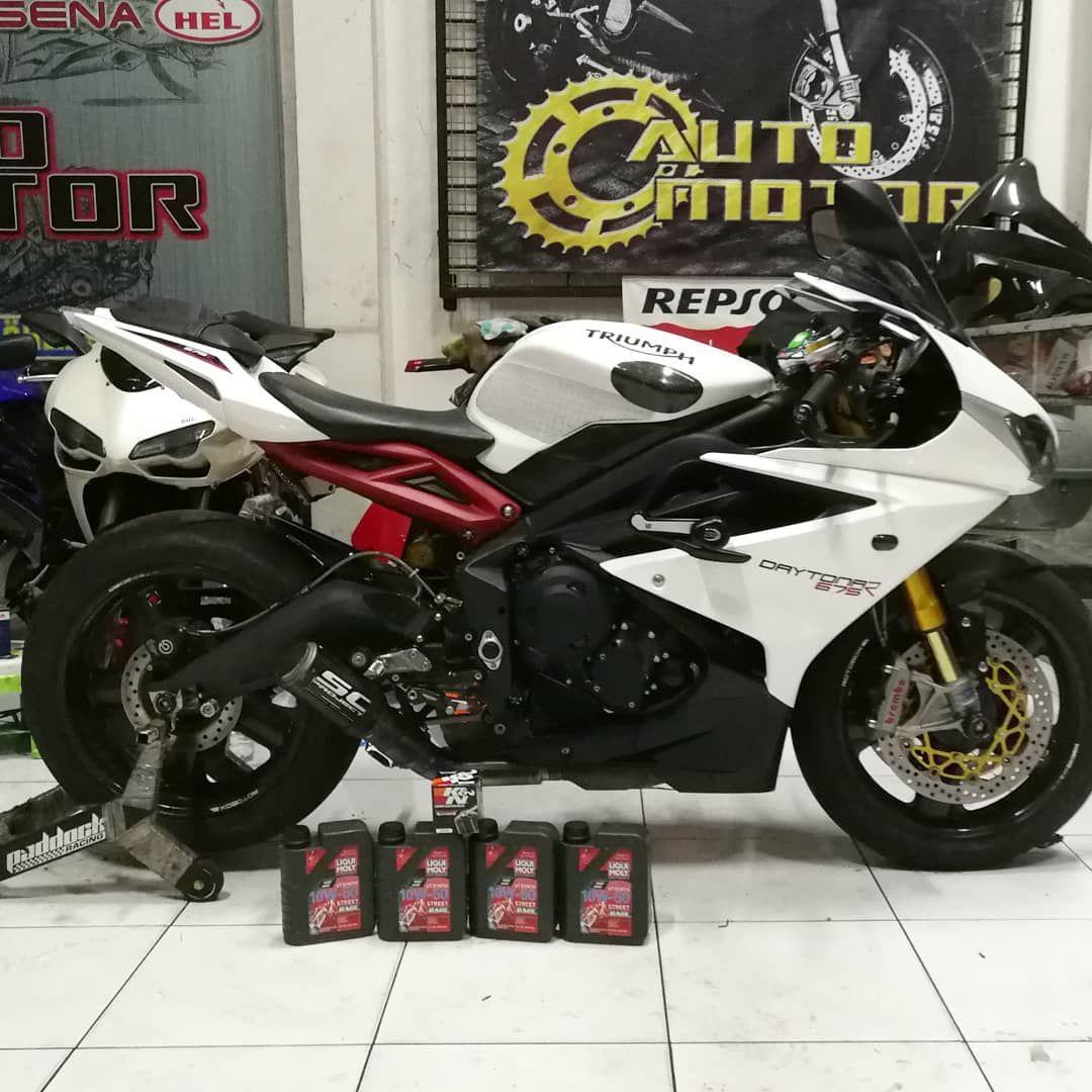 Liqui Moly Motorbike 4t Synth 10w 50 Street Race Oli Mesin Superior Full Sintetis Memberi Triumph Motorcycle Vehicles