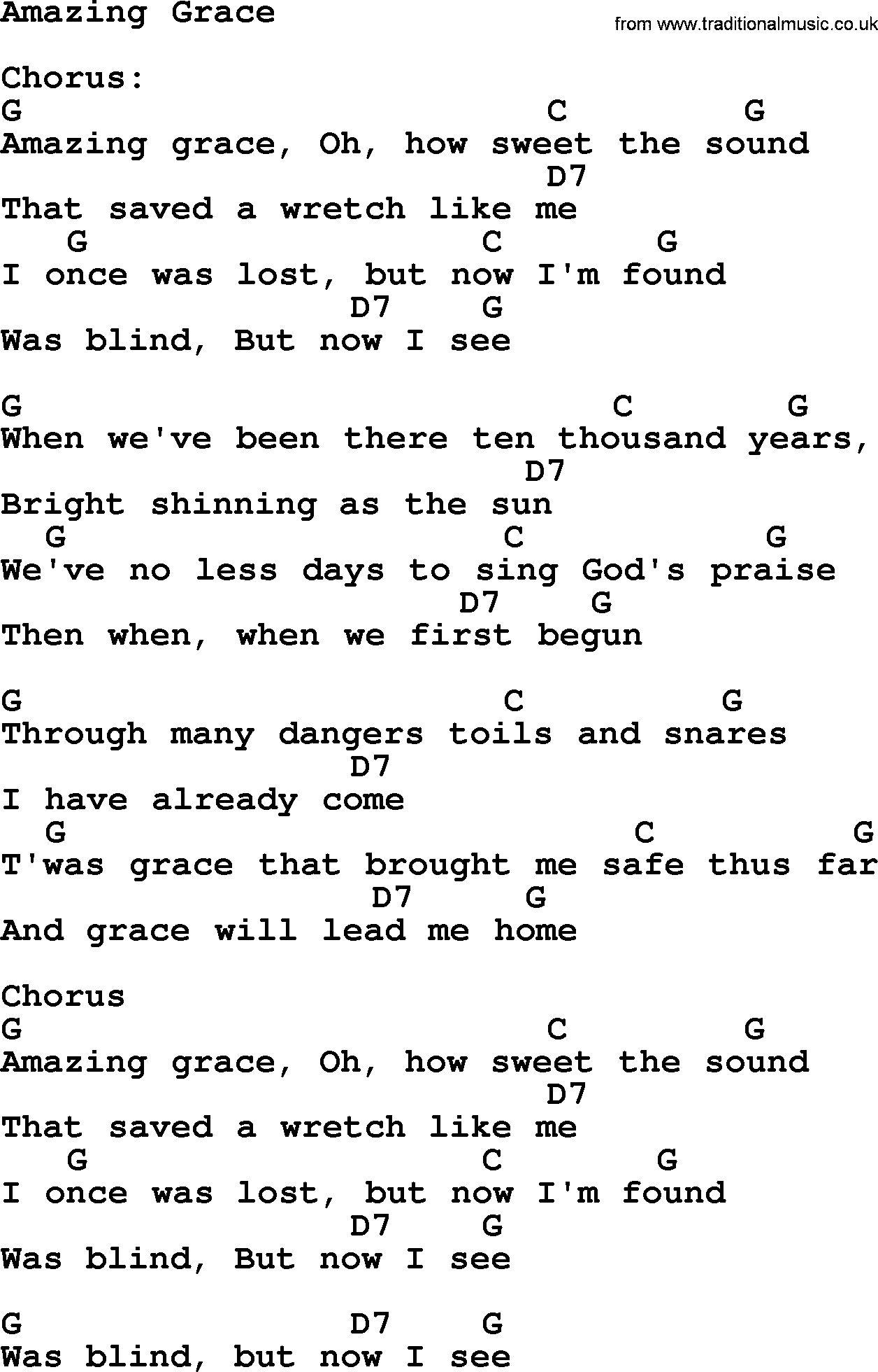 Amazing Grace Chords   Ukulele chords songs, Ukulele songs ...