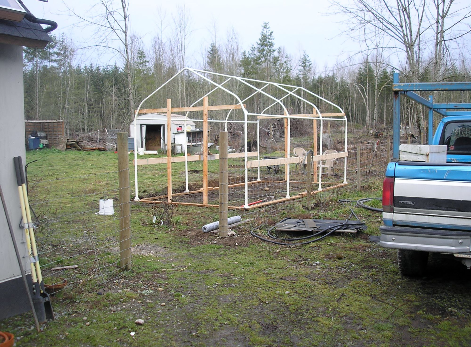 JERRY'S CARPORT TUBE FRAME GREENHOUSE Diy greenhouse