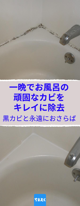 このライフハックでお風呂の頑固なカビをキレイにできる お風呂のゴムパッキンについた黒カビを一晩で一網打尽 黒カビ