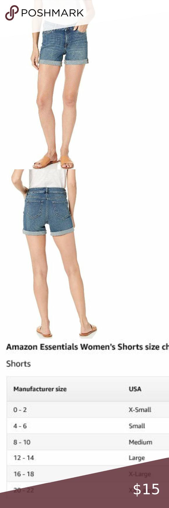 Essentials Womens 4 Denim Short